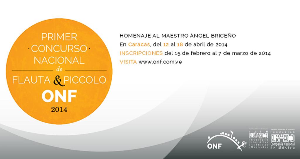 Primer Concurso Nacional de Flauta y Piccolo de la ONF en honor al Maestro Ángel Briceño