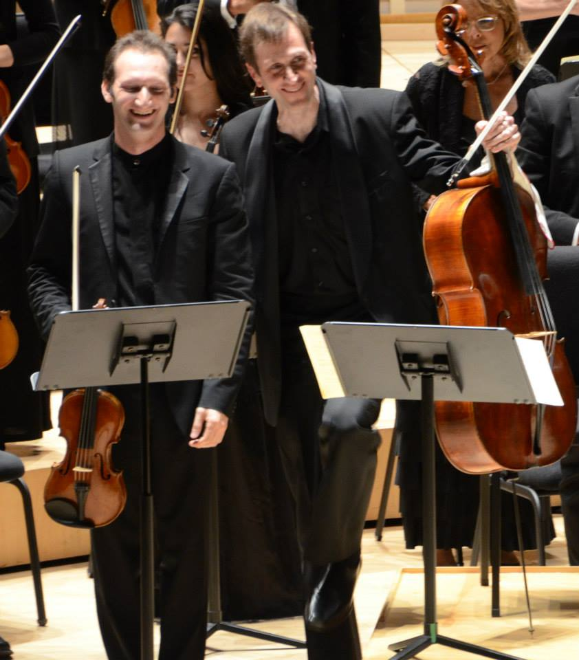 Fotos propiedad The Miami Symphony OrchestraDoubled Brahms, Tomadas en Adrienne Arsht Center for the Performing Arts / Daniel Andai, violin; Brian Manker, cello; Eduardo Marturet, conductor