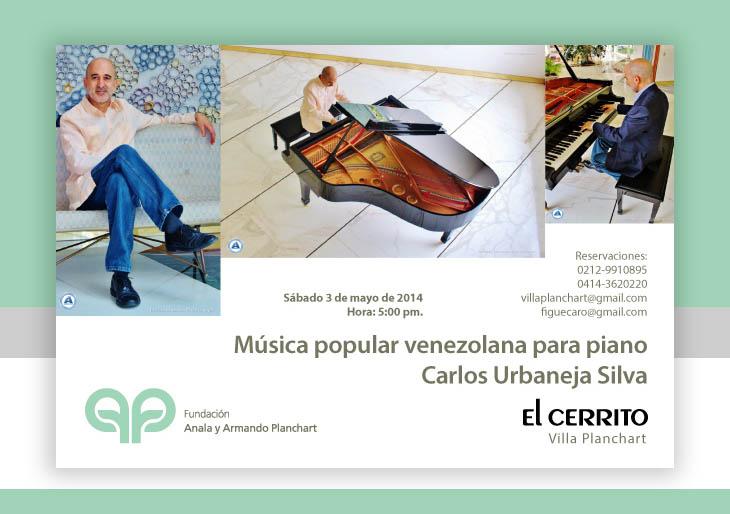 "Carlos Urbaneja evoca la música popular venezolana en ""El Cerrito"""