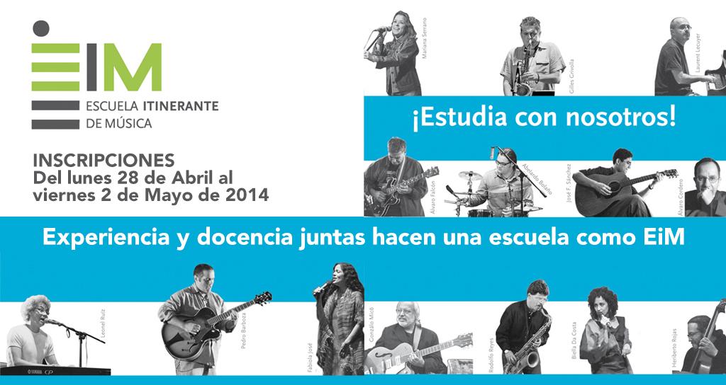 La Escuela Itinerante de Música inicia inscripciones del 28 de abril al 2 de mayo de 2014