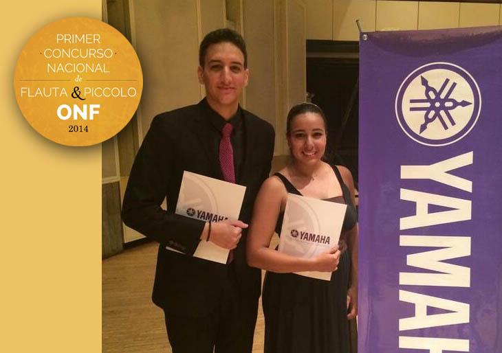 Katherine Rivas y Raúl Pimentel ganan primer concurso de la Orquesta Nacional de Flauta
