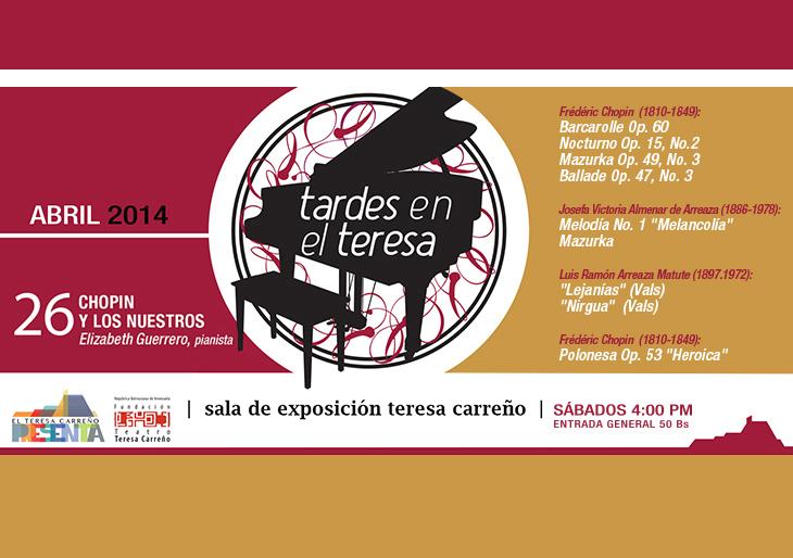 Las Tardes en el Teresa regresan a la Sala de Exposición Teresa Carreño