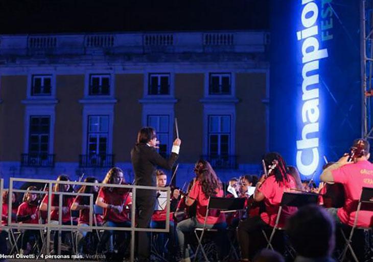 Orquesta en final de la Champions fue dirigida por un venezolano