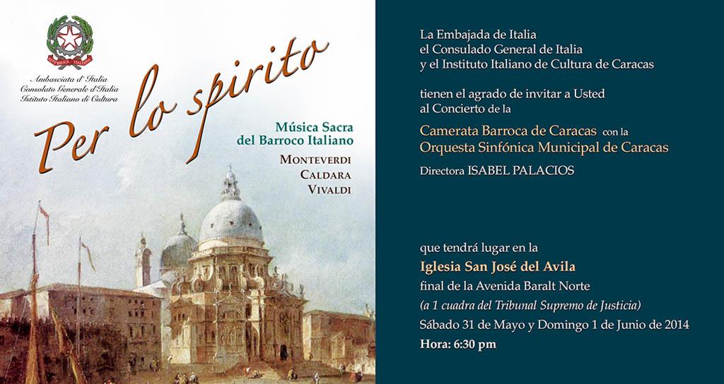 """La Camerata de Caracas presenta: """"Per lo Spirito"""""""