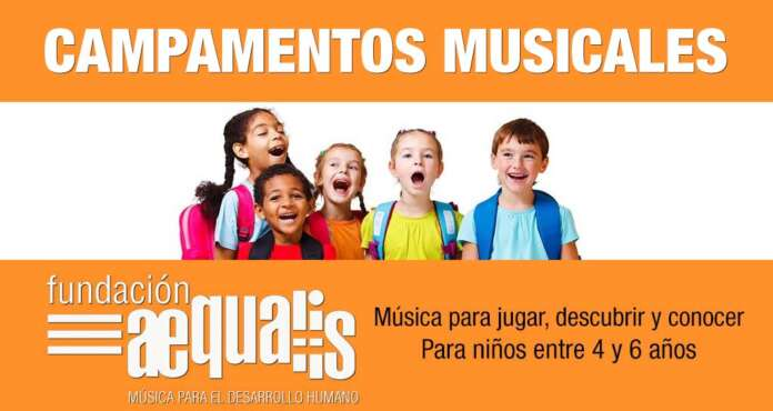 Campamentos Musicales Aequalis (Para niños entre 4 y 6 años)