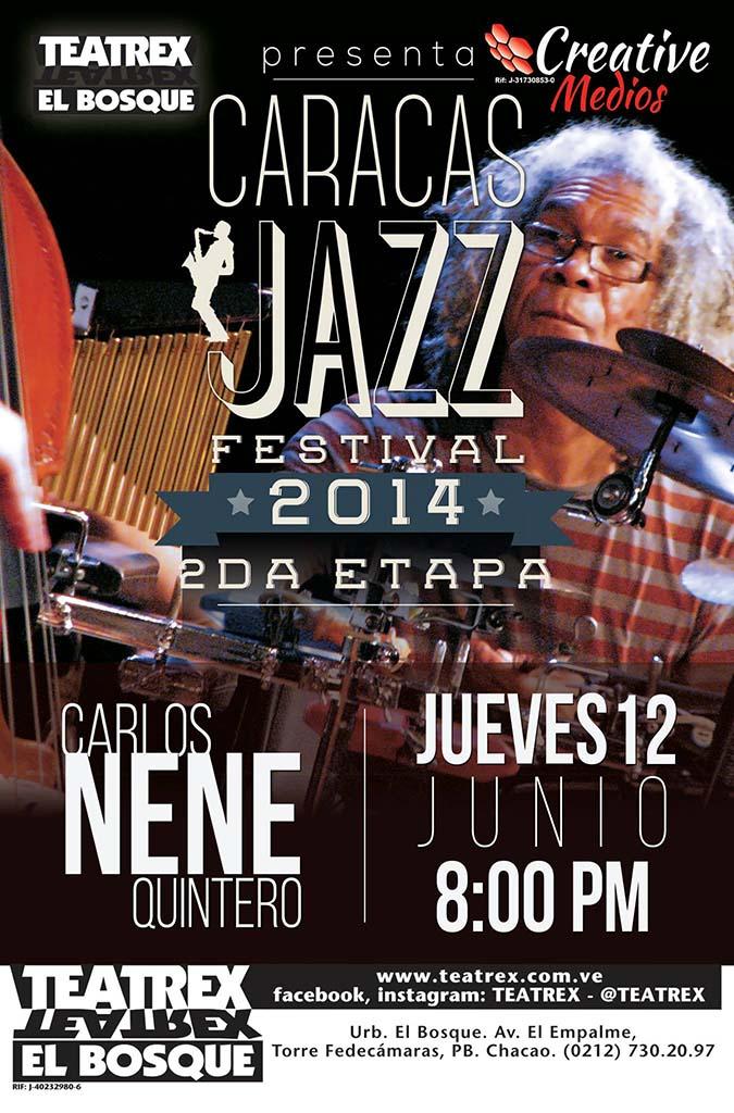 Afiche. Caracas Jazz Festival 2014. Segunda etapa