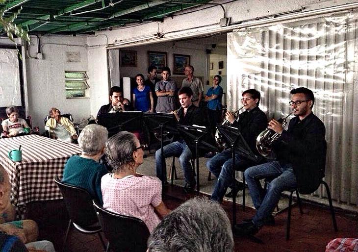 Ancianatos, casas hogar y hospitales reciben al Festival Musical del Conservatorio Simón Bolívar