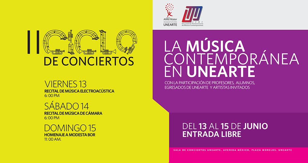 """II Ciclo de Conciertos """"La Música Contemporánea en Unearte"""""""