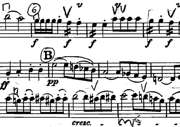 Lectura a primera vista, práctica orquestal