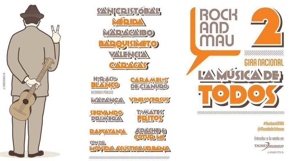 Rock and MAU hará gira por seis ciudades