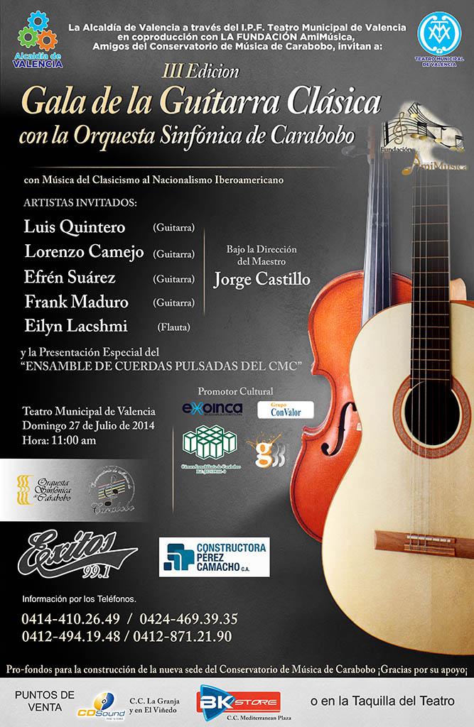 III Gala de la Guitarra Clásica con la Orquesta Sinfónica de Carabobo
