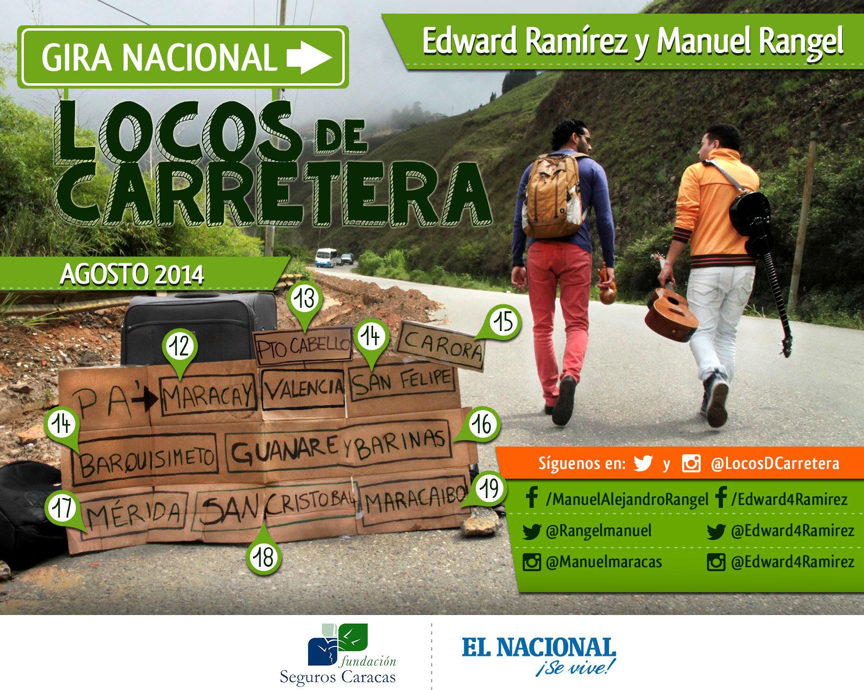 Edward Ramírez y Manuel Rangel: Dos Locos de carretera emprenden una aventura musical sin precedentes