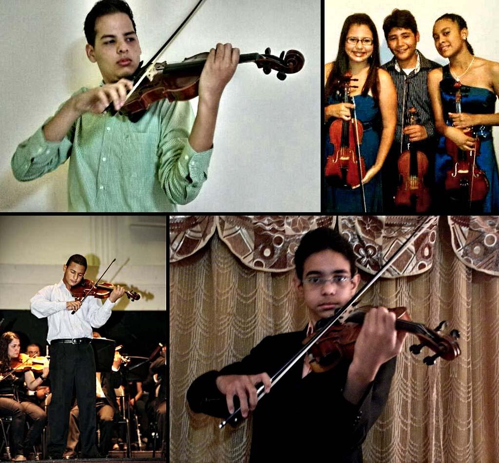 Roger Campos, Juan Guadarrama, Hugo Castillo, Idamar Ventura, Brayan Blanco y Mary Eli Palencia
