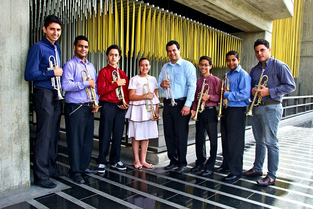 alumnos de la cátedra de trompeta del profesor Ricardo Osorio