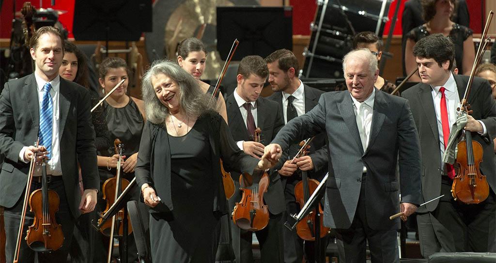 Martha Argerich y Daniel Barenboim
