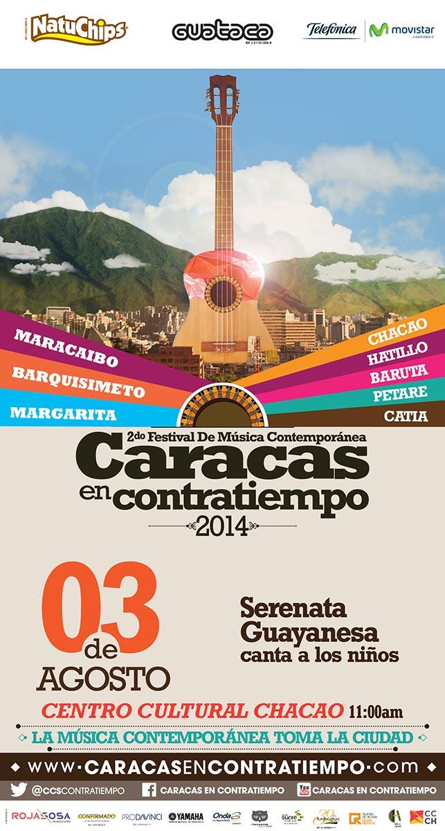 Serenata Guayanesa le cantará a los niños de Caracas en Contratiempo