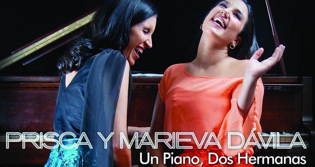 """Prisca y Marieva Dávila concierto-bautizo CD """" Un piano, dos hermanas"""""""