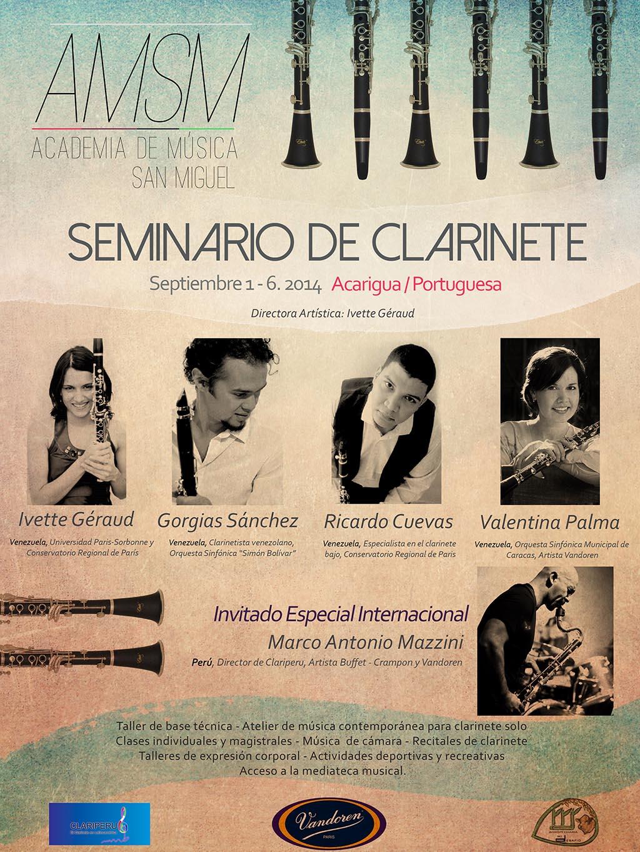 Ier Seminario Internacional de clarinete de la Academia de Música San Miguel en el Edo. Portuguesa