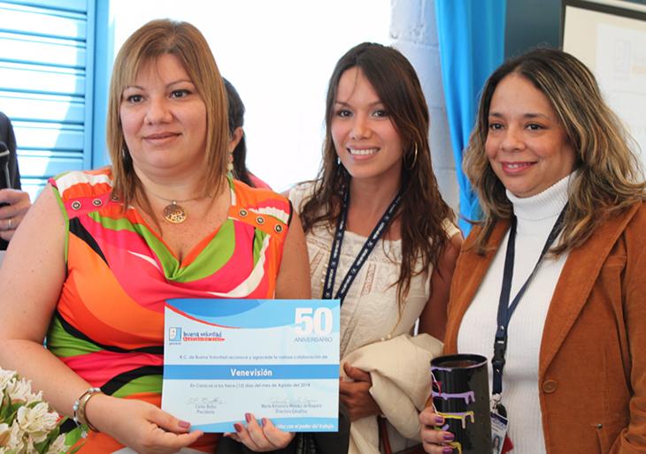 La Organización Cisneros y Venevision se unen a la celebración del 50 Aniversario de la A. C. Buena Voluntad