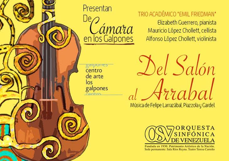 «Concierto «Del Salón al Arrabal» con el Trío Académico Emil Friedman