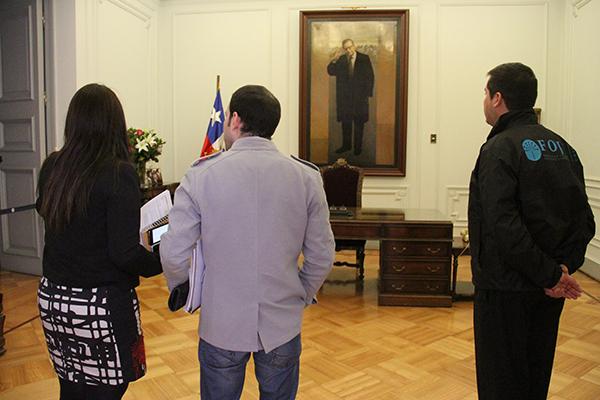 Presidente FOJI recibe a J. Dos Santos en La Moneda