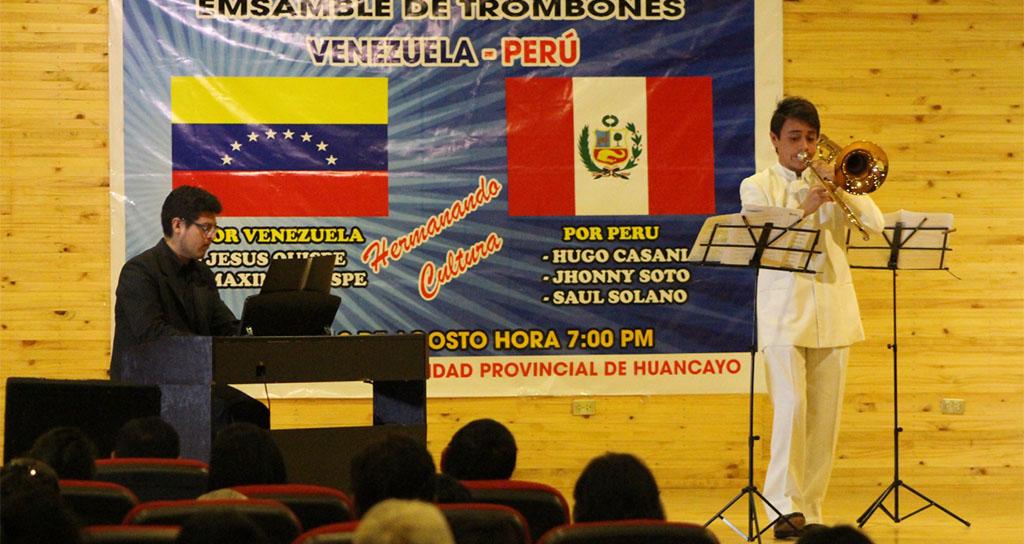 Reconocidos músicos de Venezuela y Perú realizaron concierto y recital de Trombones