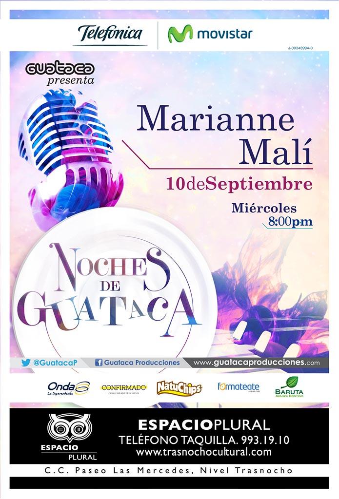 Flyer Noches de Guataca -