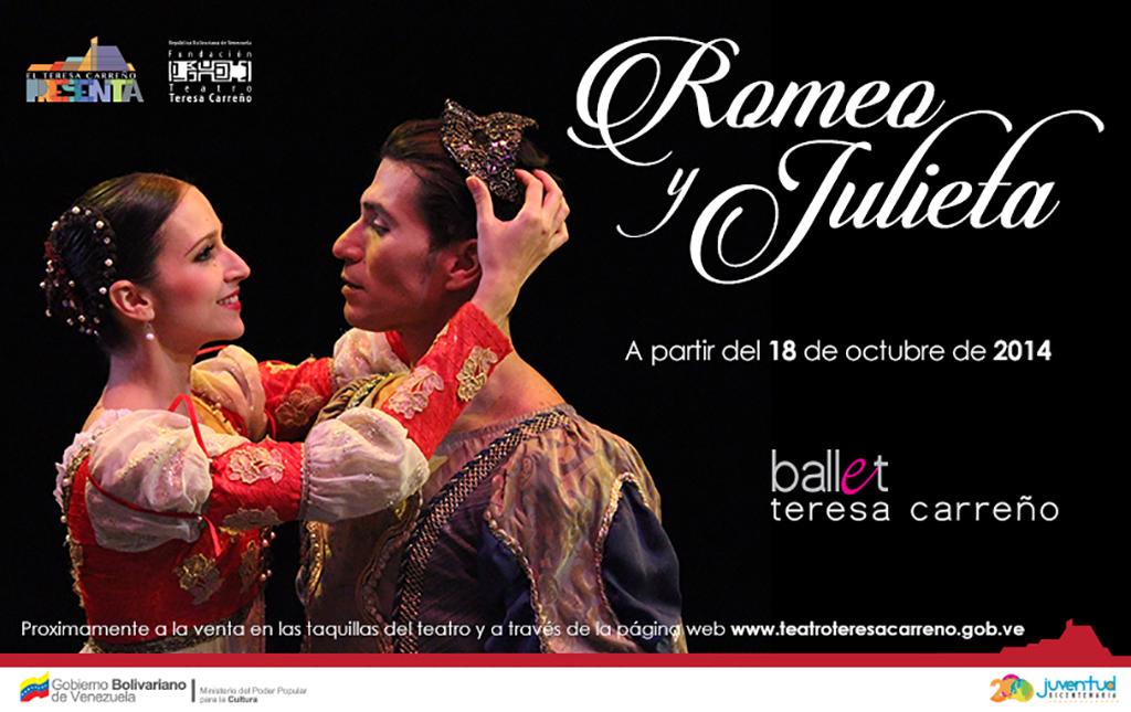 El amor de Romeo y Julieta llega a la sala Ríos Reyna