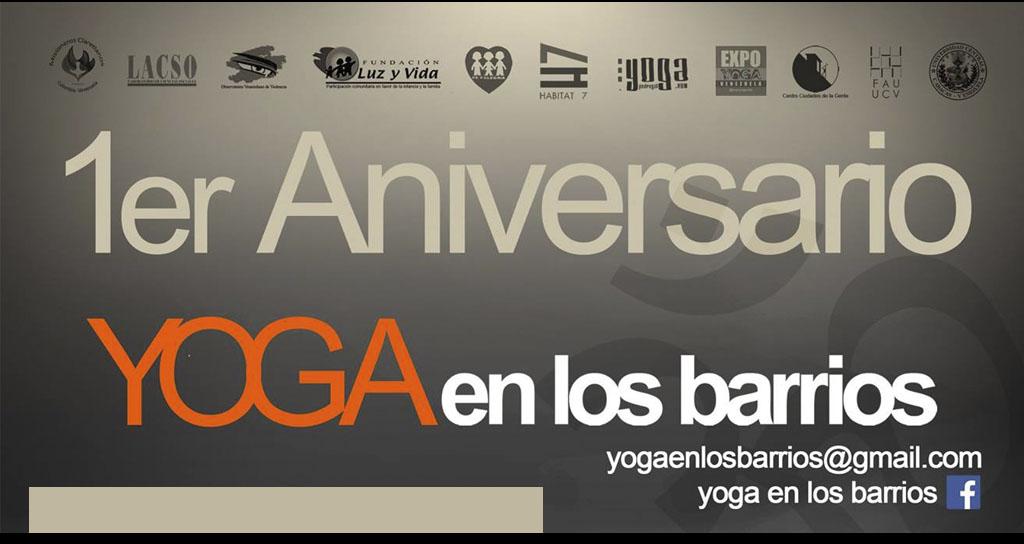 """1er aniversario de """"Yoga en los Barrios"""""""