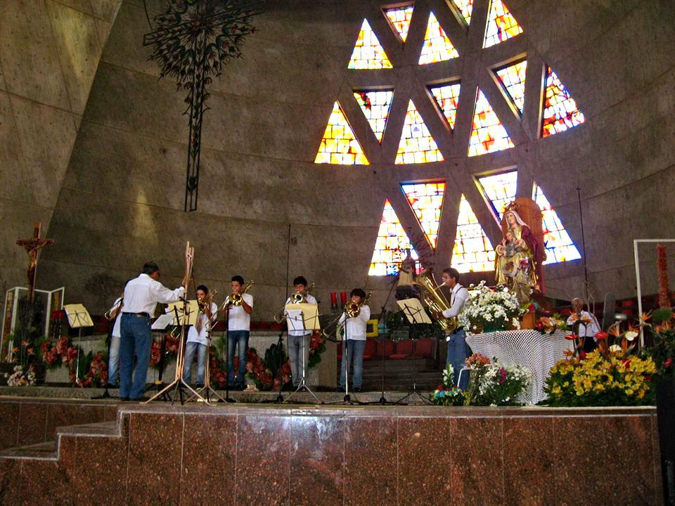 Ensamble de Trombones y Tubas se presentaron en las Festividades de la Vigen de Coromoto