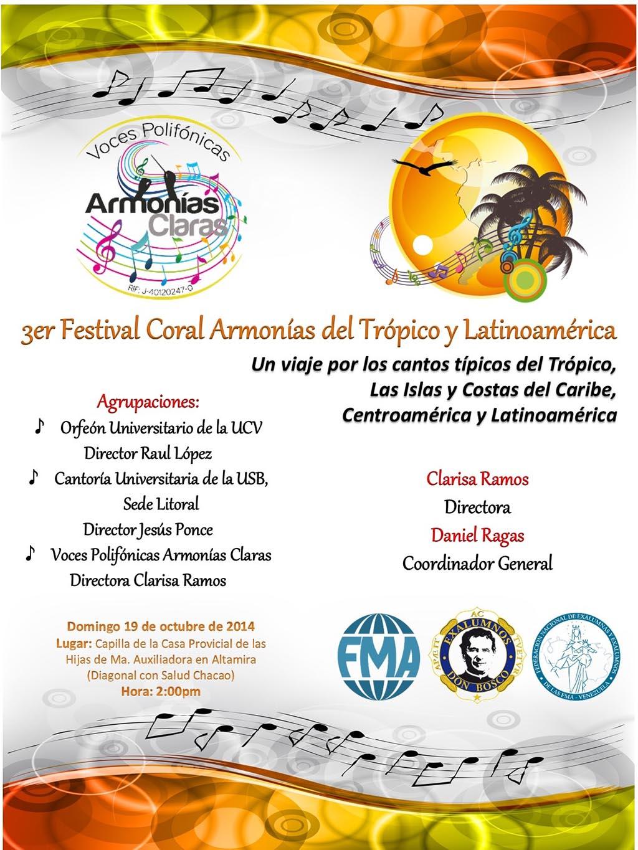 3er Festival Coral Armonias del Tropico y Latinoamerica 2014