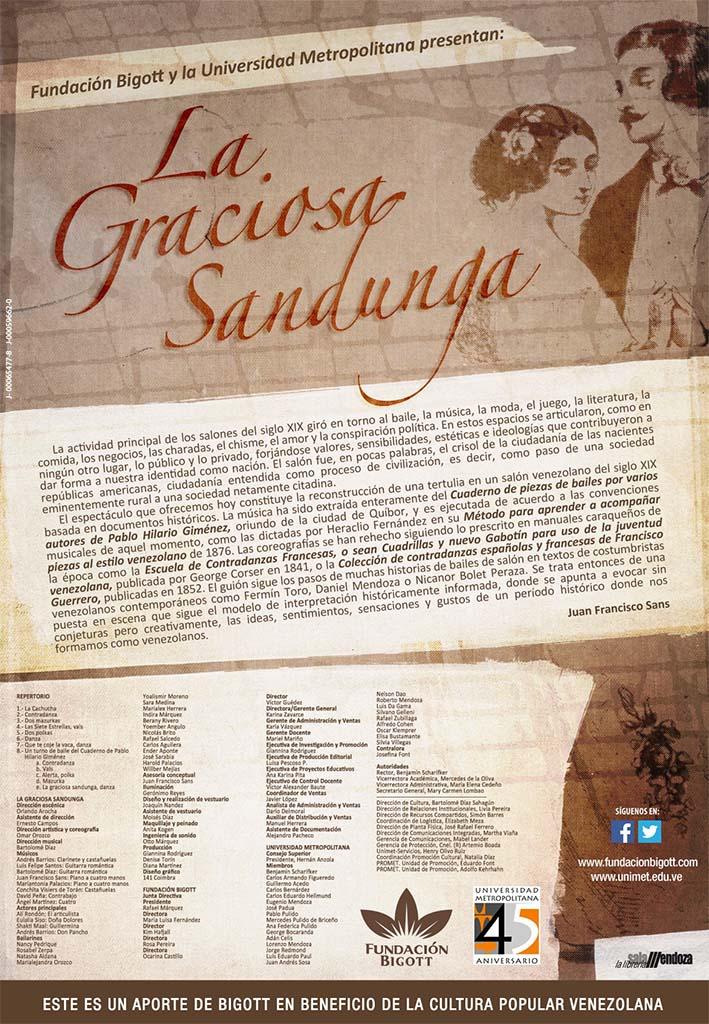 FUNDACION BIGOTT - SANDUNGA -Volante digital (programa de mano digital) 1173x1695px
