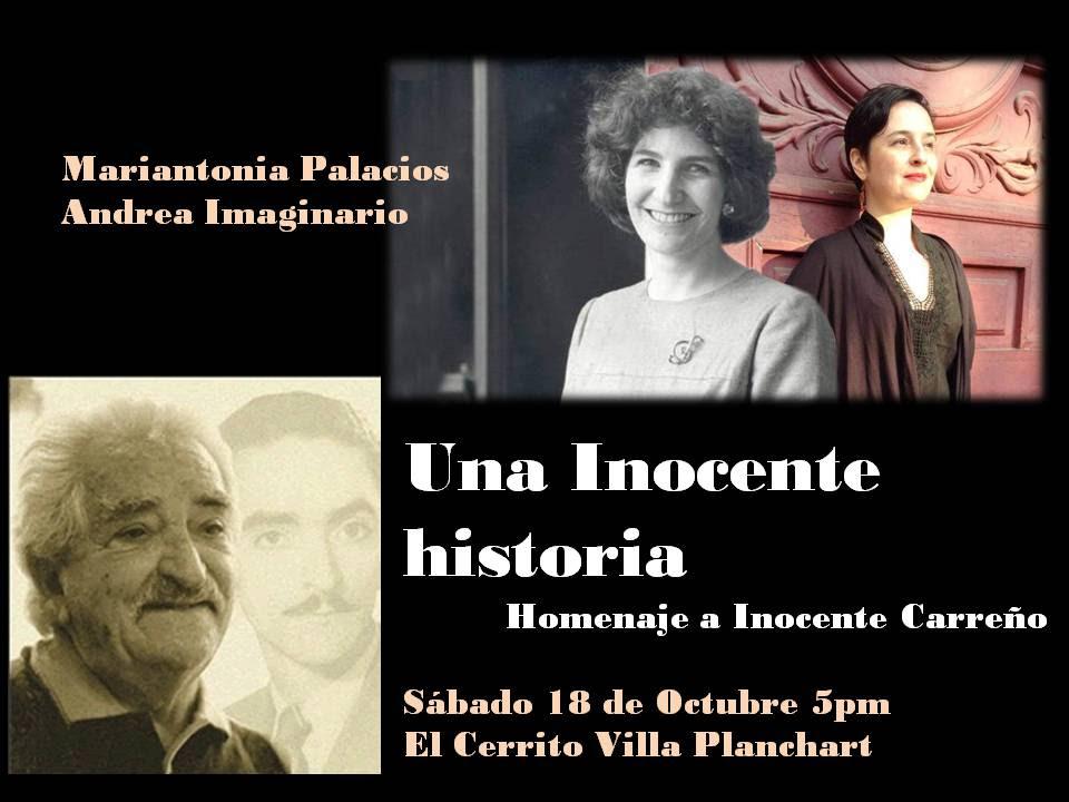 Andrea Imaginario y Mariantonia Palacios celebran a Inocente Carreño en El Cerrito