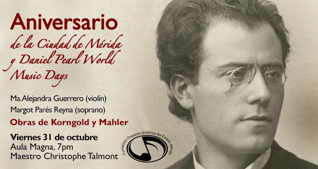 La Orquesta Sinfónica del Estado Mérida invita al concierto en el Marco del Mes Aniversario de la Ciudad de Mérida