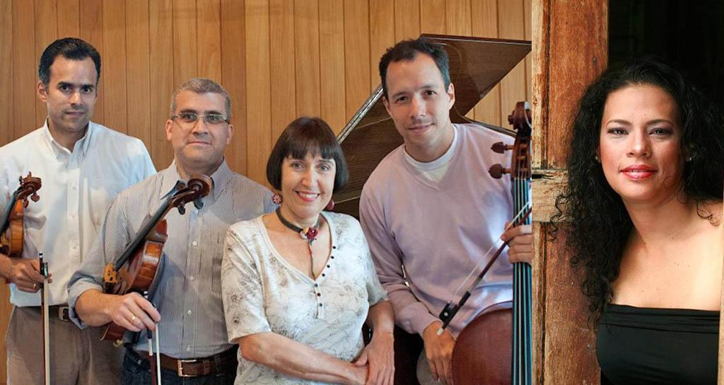 Alfonso López, violín; Rubén Haddad, viola; Mauricio López, cello; Gustavo Ruiz, contrabajo; Elizabeth Guerrero, piano