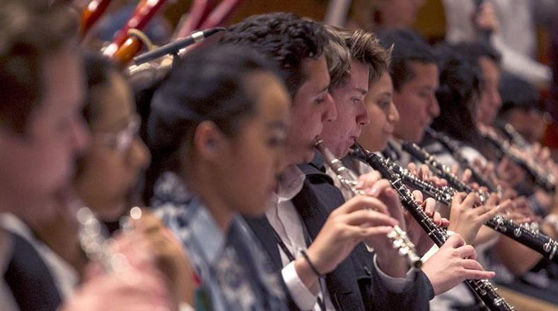 Miembros de la Orquesta de Suecia, país que ha adoptado el modelo venezolano para integrar en la sociedad a niños y jóvenes que se han asentado en el país nórdico.