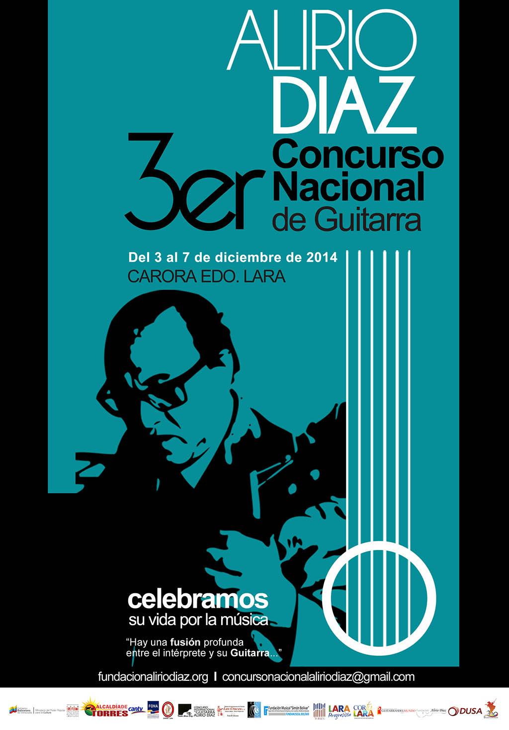 Guitarristas jóvenes del país competirán bajo la egida del maestro Alirio Díaz