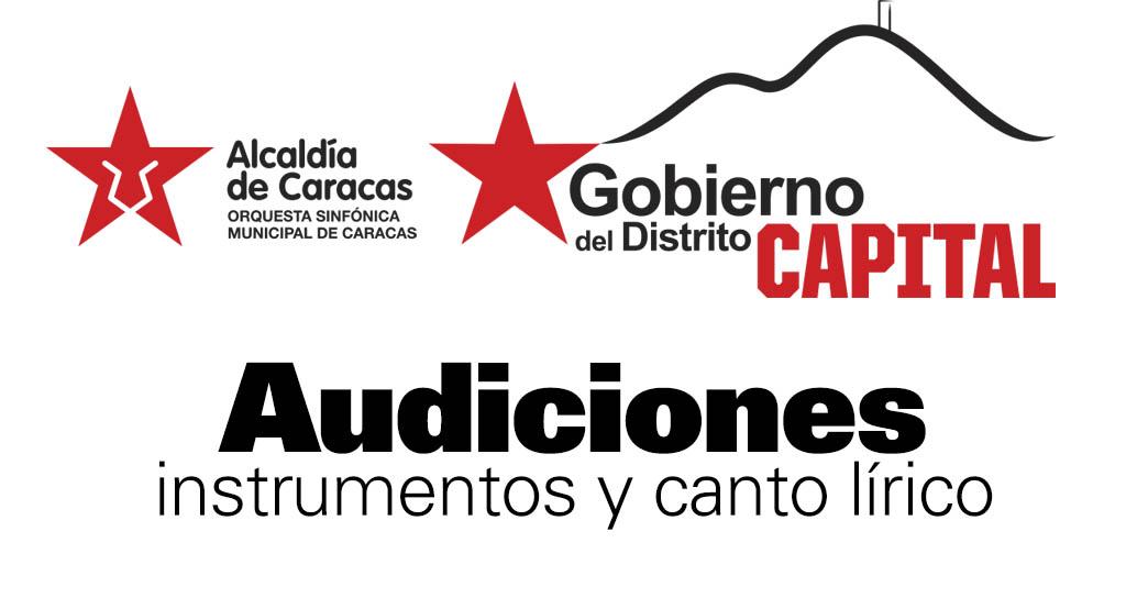 La Sinfónica Municipal de Caracas convoca a Audiciones