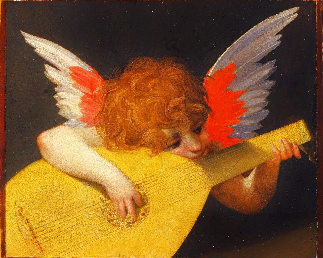 Rosso+Fiorentino+-+Musician+Angel,+1518+1