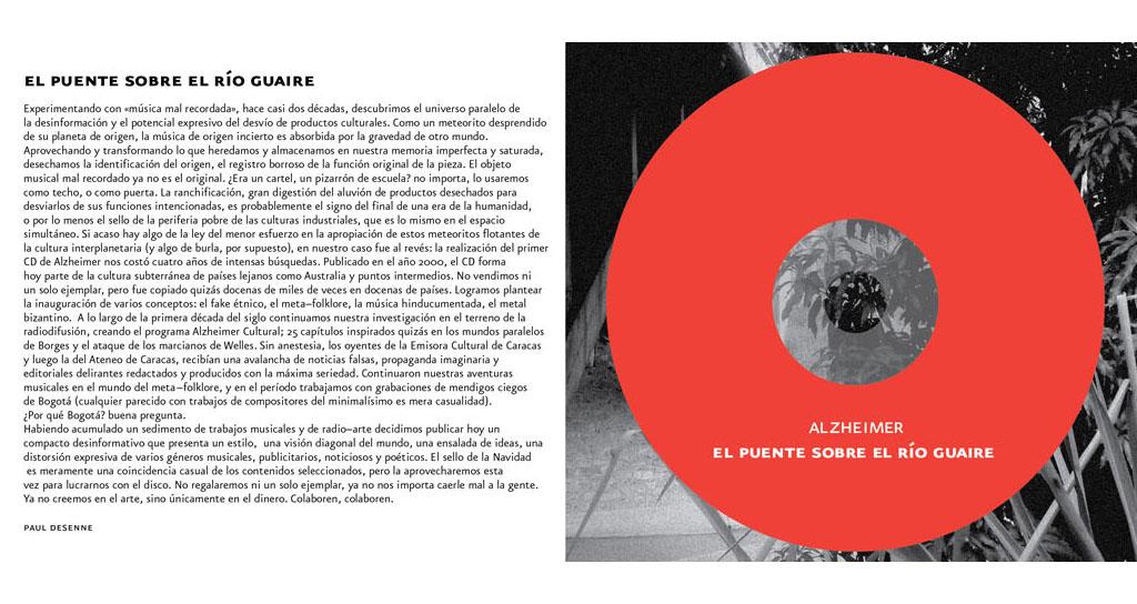 Paul Desenne y Alonso Toro presentan: Alzheimer Cultural: El Puente sobre el Río Guaire