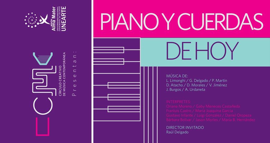 El Círculo Creativo de Música Contemporánea invita al 1er recital de música contemporánea Piano y Cuerdas