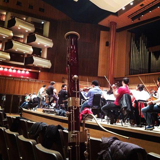 Primer ensayo en el Royal Festival Hall de Londres #GiraOSSBVEuropa2015
