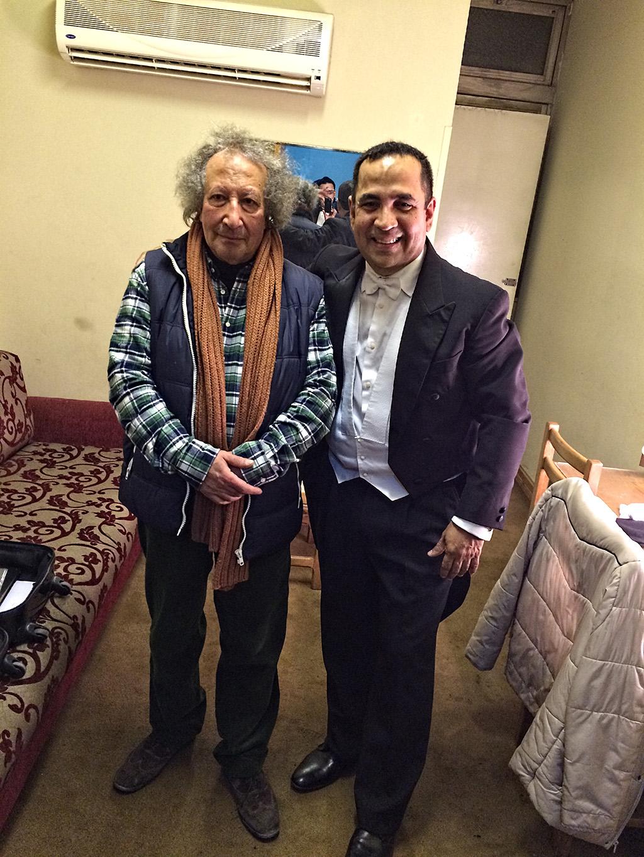 Eddy Marcano Egipto y director titular Sinfonica de El Cairo