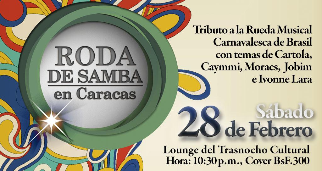 Roda de Samba en Caracas se presenta en el Trasnocho Lounge