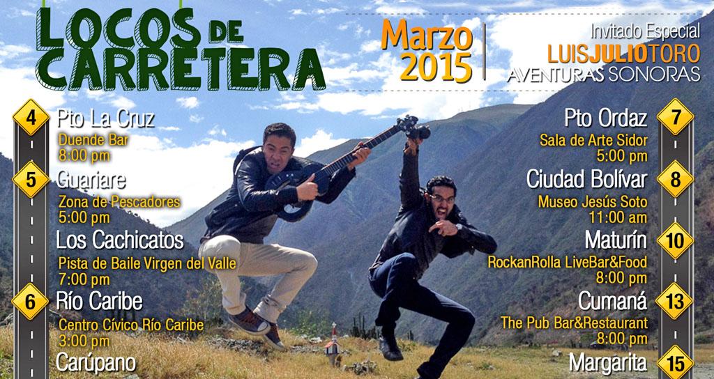 #LocosDeCarretera emprenden nuevo viaje musical al oriente del país