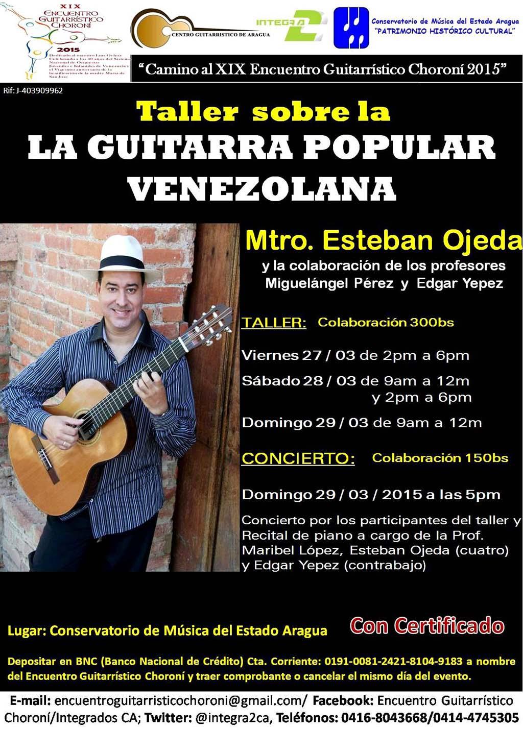 Afiche Esteban Ojeda