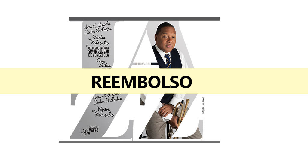 Reembolso de entradas para Wynton Marsalis y la Jazz at Lincoln Center Orchestra