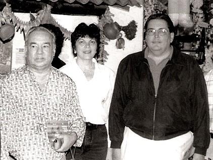 Aldemaro Romero con Felipe Izcaray y su esposa Norma Pinto