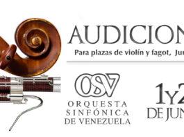Audiciones para plazas de violín y fagot