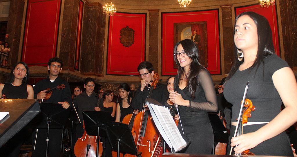 La Fuerza acompañó a La Sinfónica Juvenil Regional de Mérida en el Aula Magna de la ULA